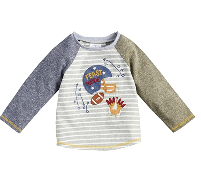 Thanksgiving sweater with football helmet and turkey